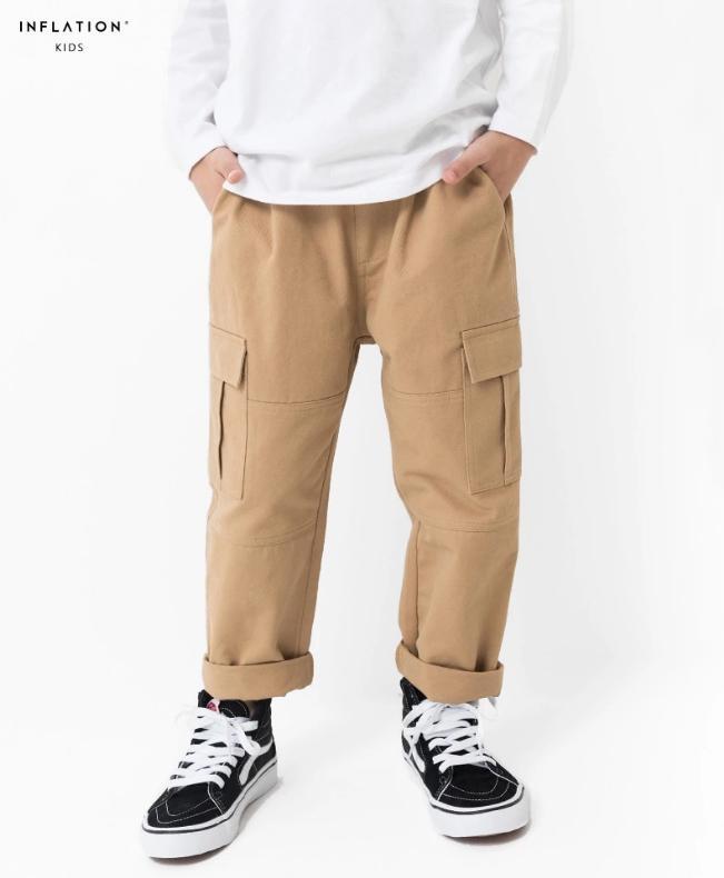 f42225055 Kids cargo pants catton jogger boys pencil harem stretch style dress  comfort boy girl school pants 8-13 years old