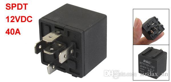 2018 Sindax Dc 12v 40a 1no 1nc Spdt 5 Pins 15mm Rail Socket