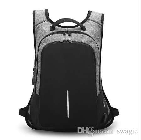 Tagdot ماء الرجال محمول usb حقيبة 15.6 بوصة حقيبة الأزياء حقيبة سفر المرأة للرجل الظهر للمحمول 15 العودة