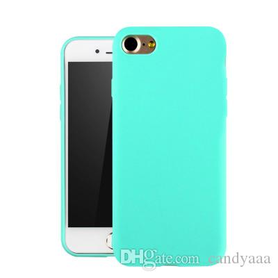 Newest Full Soft Back Matte Color Cases for iPhone 7 8 X Case Shockproof TPU Silicone Back Cover Case