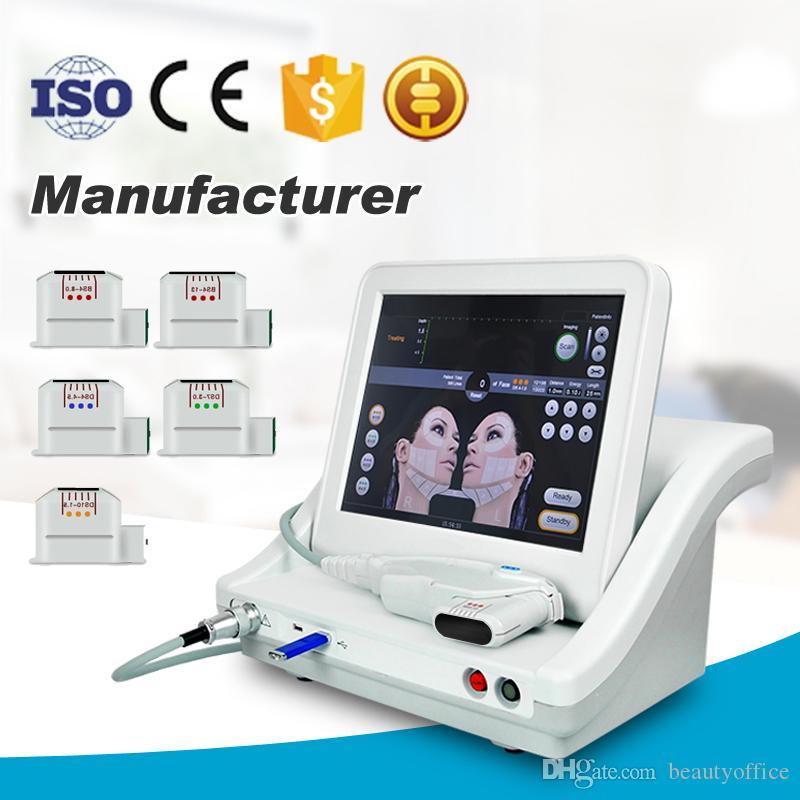 Kartuşları 3 veya Cilt Kaldırma Kırışıklık Kaldırma Cilt Bakımı Güzellik Machine 5 Başkanları Ultrason Tedavisi ile HIFU makinesi