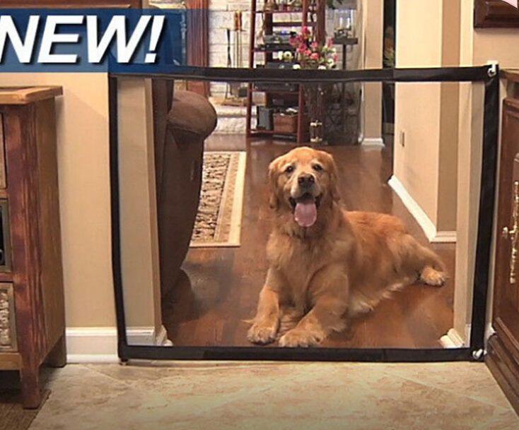 Dog Gate Mesh Magic Pet Gate per cani guardia sicura e installare recinzioni per cani recinzione di sicurezza per cani