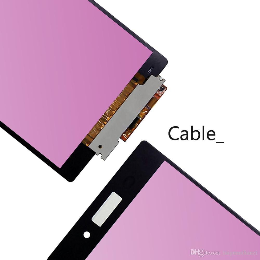ORIJINAL 5.2 '' SONY Xperia Z3 LCD Ekran D6603 D6633 D6653 L55T SONY Xperia Z3 Ekran Dokunmatik Ekran Çerçevesi ile Değiştirin