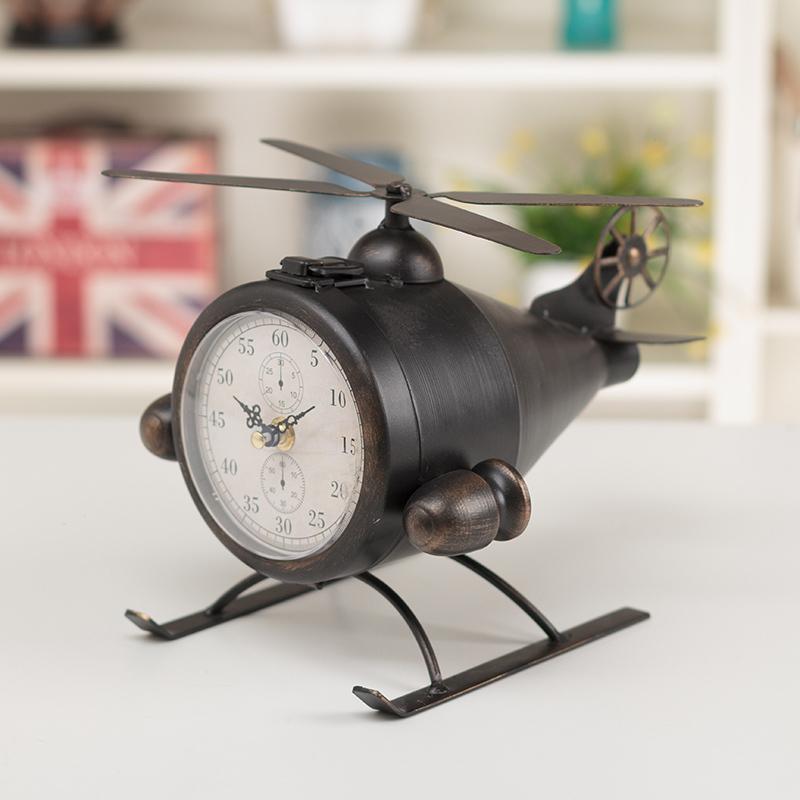 New Flip Clock Despertador Electronic Desk Clock Retro Iron Plane For Living Room Cabinet Tv Bedroom Desktop Decoration