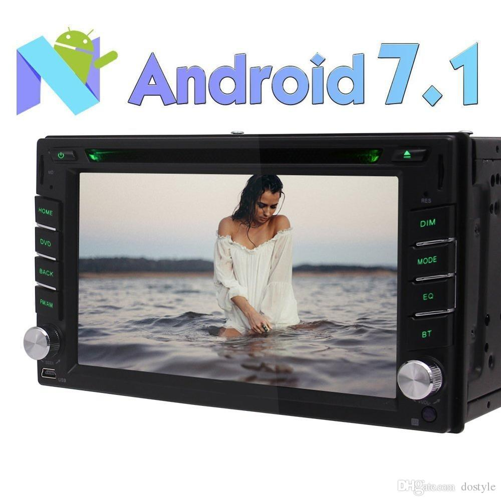 """Universal Android 7.1 Car Stereo Double Din 6.2 """"In Dash Car DVD Player Car GPS Navigation Bluetooth Radio RDS SWC DAB +"""