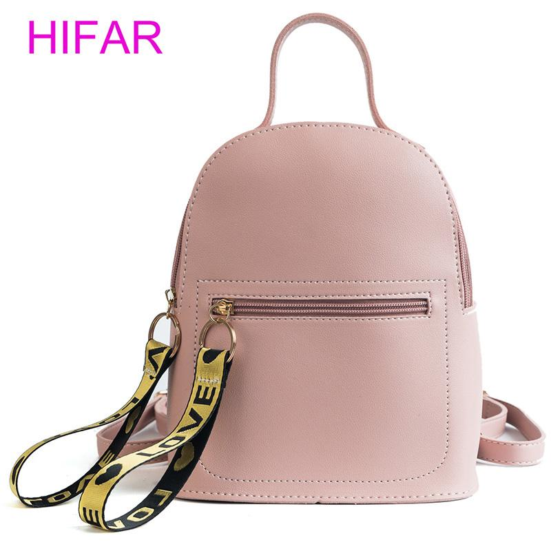 4781bf359f Fashion women mini Backpacks ladies small Leather Backpack school bags  teenager girls vintage female travel Backpacks back packs
