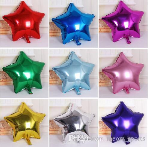 50 Pcs/Lot 5 inch Helium Balloon Star Shape Aluminum Foil Balloons For Wedding Birthday Decoration Baby Shower Party Supplies