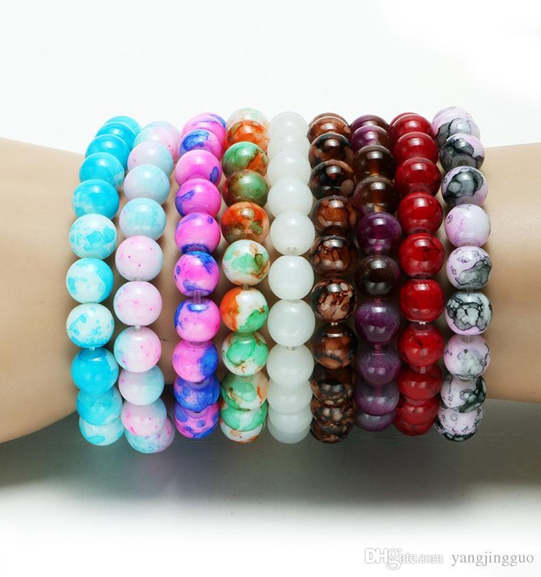 8 MM cor imitação de cristal corrente de mão cor calor vendendo atividade pequeno presente ornamento multi-cor opcional entrega gratuita