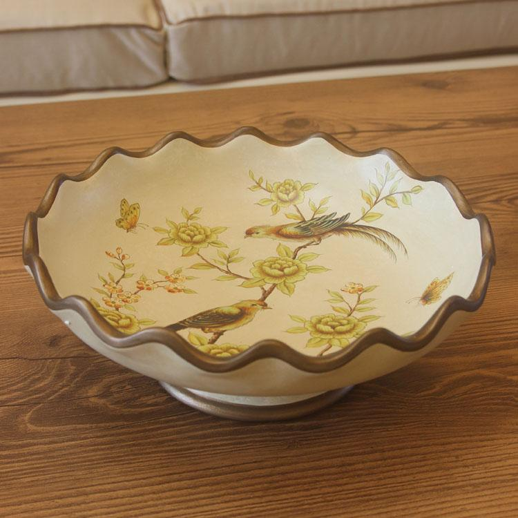 country decoration big fruit tray Painted ceramic arts and crafts Europe type restoring ancient ways round fruit bowl