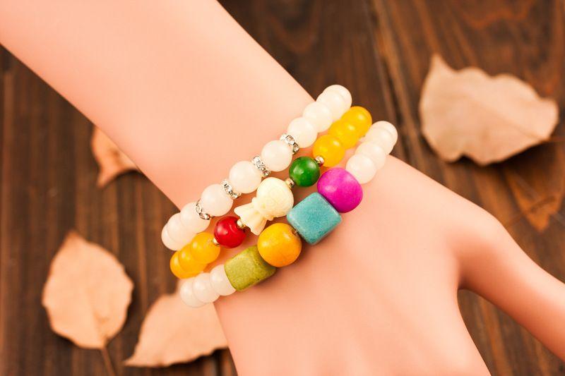 Naturel Bracelet de yoga pierres Agate rouge Bracelet en cristal multicouche Lava Rock Bracelets perlés Bracelets Bracelet Turquoise Charm Bijoux