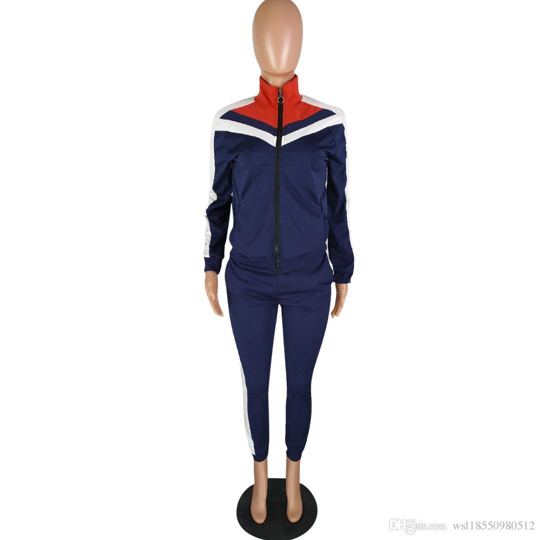 Großhandel 2018 Winter Trainingsanzug Frauen Kleidung Hoodies Set Brief Drucken Casual Langarm Sport Anzug Kostüme Sweatshirt + Pants Von