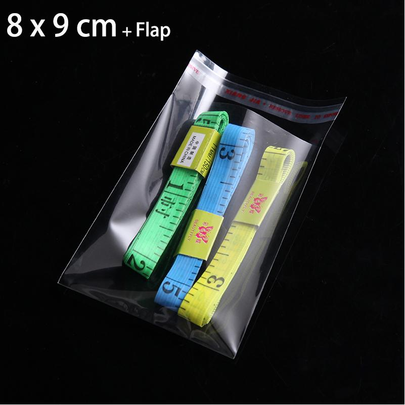 2000pcs 8 x 9cm CLEAR PACKAGING BAG For CANDY RESEALABLE CELLO CELLOPHANE SMALL SEAL BAGS Mini PLASTIC POUCHES