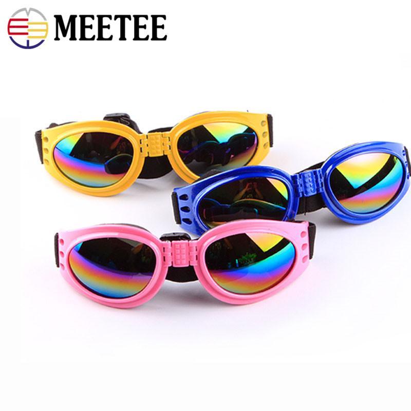 Mode pour chiens Lunettes de soleil pliant pour chien coupe-vent et des lunettes de protection anti-mites Six couleurs en option Accessoires pour animaux DC-293