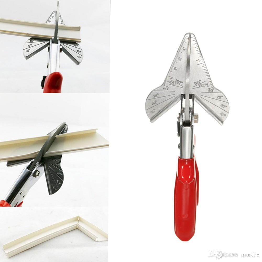 Chanfrein Trunking PVC Cutter Multiangle garniture en acier Revêtement Mitre Fillet cisaillement Outils de coupe Snips Recadrage 45 à 120 degrés