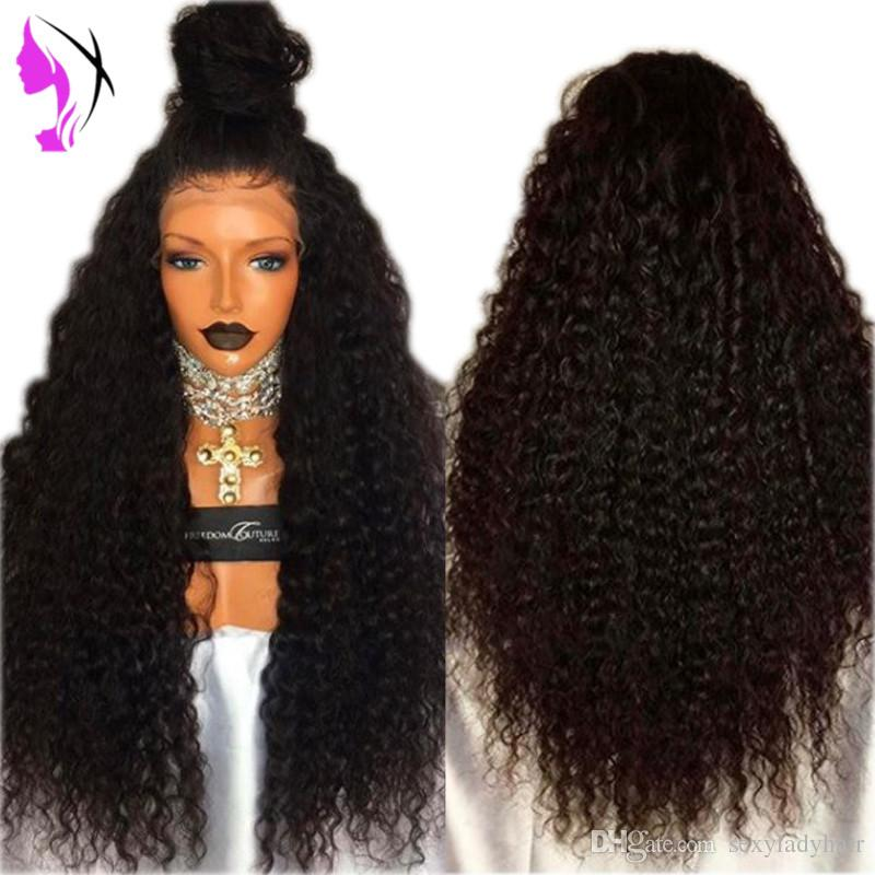 30inches Long Loose Kinky Curly Synthetic Lace Front Wig Black Color Afro Curly Heat Resistant Synthetic Hair Wigs With Baby Hair Big Hair Wigs Full Lace Wigs Under 200 From Sexyladyhair 38 2