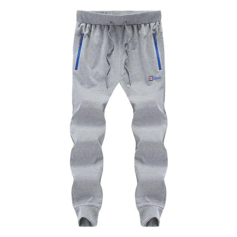 2018 Mode gris Sweatpants hommes Joggers Streetwear Slim Fit Pantalons Harem poches zippées Pantalon Sweat causales Taille Plus 6XL 7XL 8XL