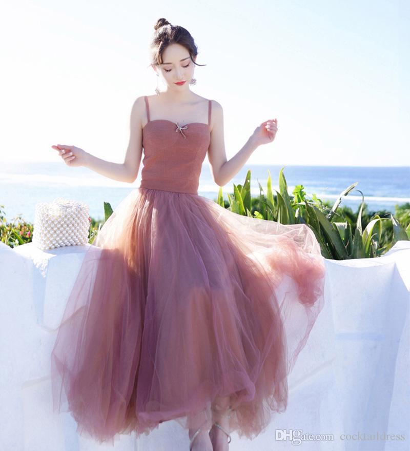 high-end fashion vestido de verão sexy de três camadas de malha cortados menina do vintage o envio gratuito de baile vestidos de festa à noite regresso a casa