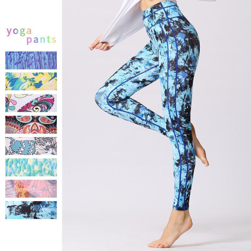 Pantalones de Fitness para mujeres Pantalones de gimnasia para correr con elasticidad de cintura alta Pantalones de gimnasia para correr de Femal Yoga