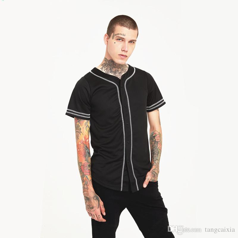 Wholesale Free Shipping Summer Men Tshirt Fashion Streetwear Hip Hop Baseball Jersey Camouflage Shirt Top Tee