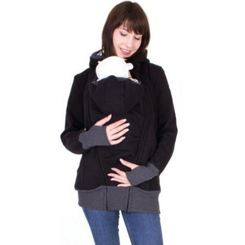 بارد enbeautter الأبوة والأمومة الطفل الشتاء النساء الحوامل بلوزات الطفل أمي الطفل الناقل يرتدي هوديس ملابس الكنغر الأم