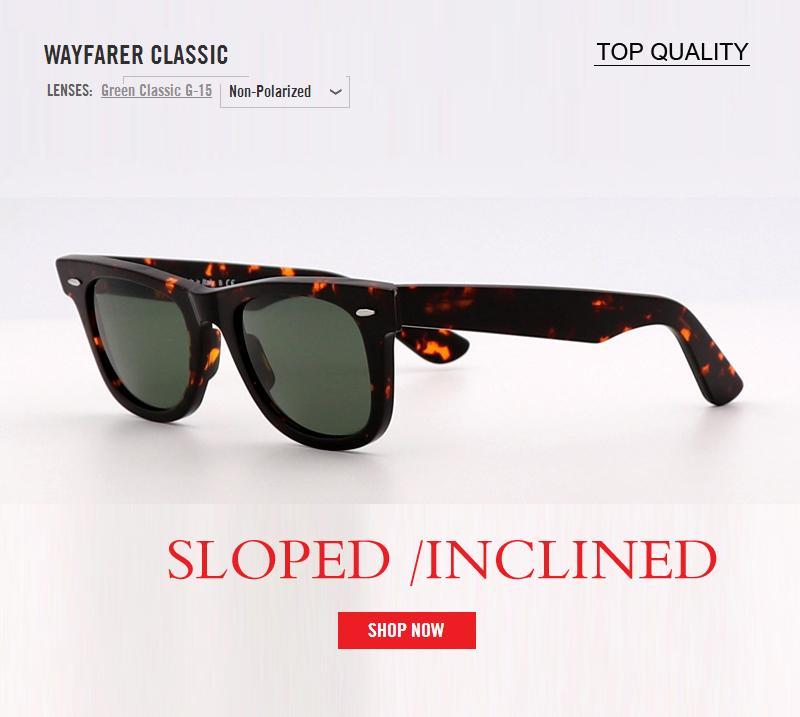 nueva de la vendimia de los hombres gafas de sol de las mujeres marca de diseño cuadrado retro vidrio G15 inclinada pendiente Gafas de sol UV400 Sombras Gafas Gafas de sol de gafas