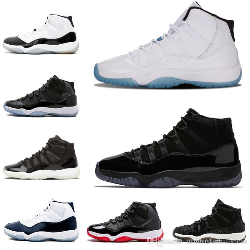 Toptan Yeni Tenis 11 S Kapağı ve Kıyafeti Erkek Bayan Basketbol Ayakkabı Sneaker Spor Red Concord 45 Bred Legend Heiress Spor Ayakkabı Damla Nakliye