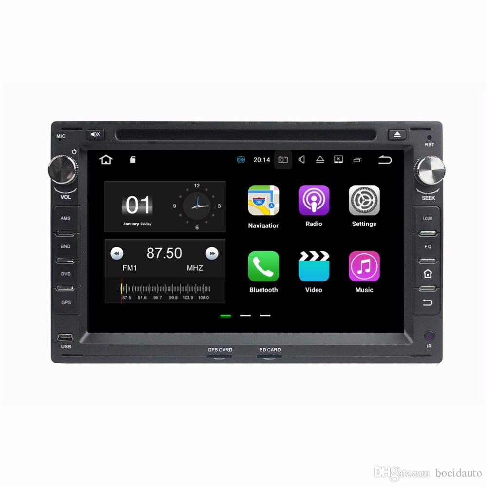 "1024*600 Android 7.1 Quad Core 2din 7"" Car Radio dvd GPS Head Unit Car DVD for VW Volkswagen Passat B5 Golf 4 Polo Bora Jetta Sharan T5"