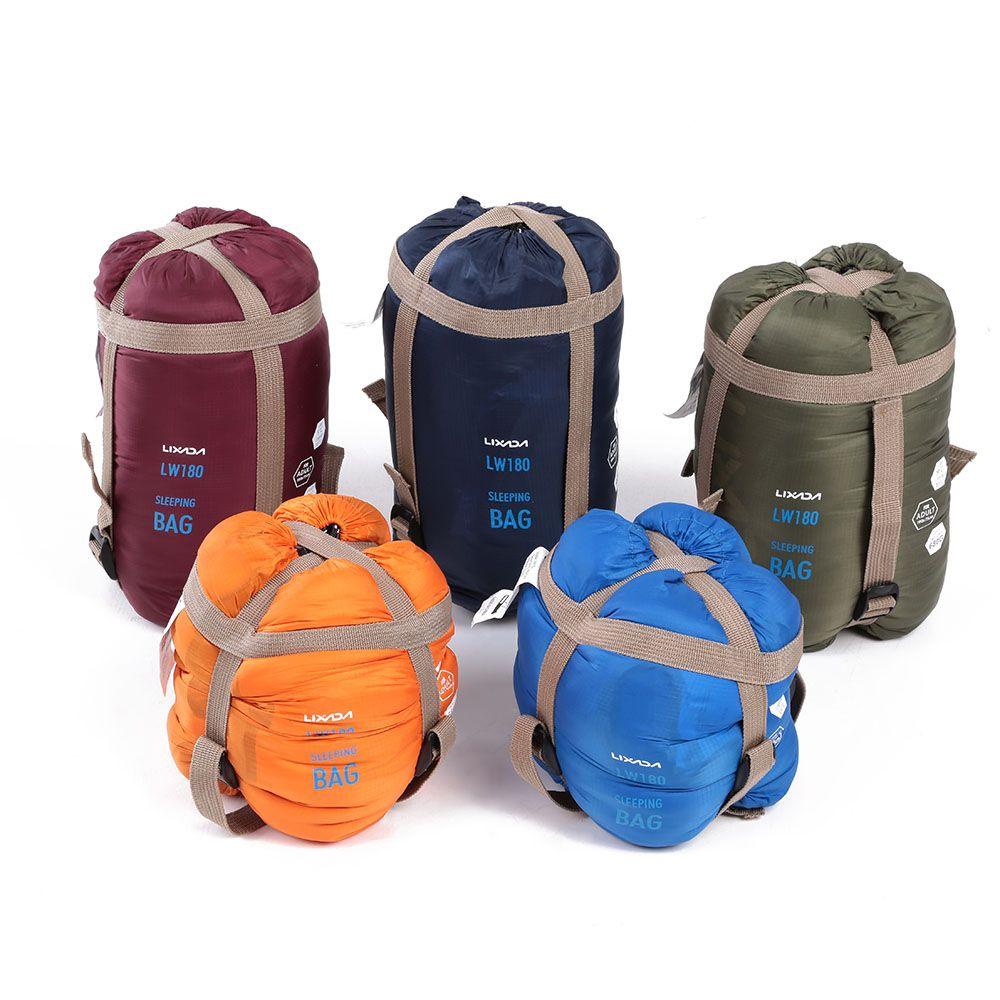 Lixada Camping-Schlafsack 190 * 75cm Typ Polyester Schlafsäcke Camping mit Kompressionssack Ausrüstung 680g