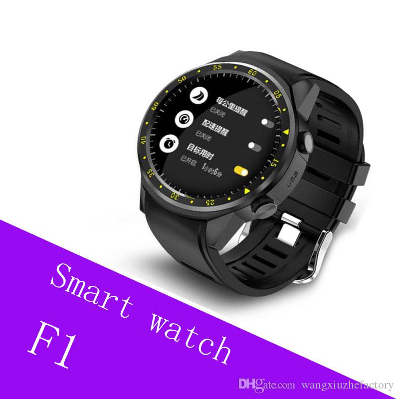 F1 Sports Smartwatch Phone 1.3 inch MTK2503 Dual Support SIM TF Card Bluetooth GPS Camera Heart Rate Sleep Monitor Smart Watch