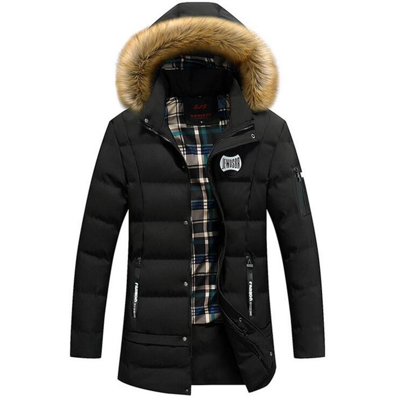 From Men Jacket Hat Fashion Warm Long Hooded 2019 Parkas Size Thick Winter Keep Fur Honey333 New Men's Fake 2018 Coats 3xl tQdBshrCx