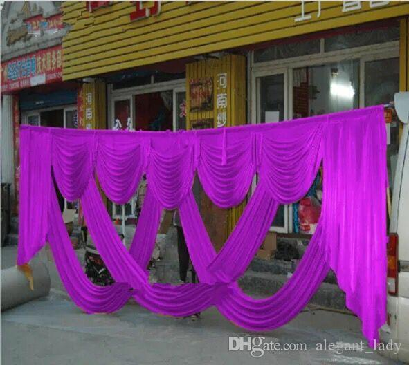 6m Wide burgundy mint chiffon Designs Wedding Party Birtyday Stylist Swags For Backdrop Party Curtain Celebration Stage Backdrop Drapes