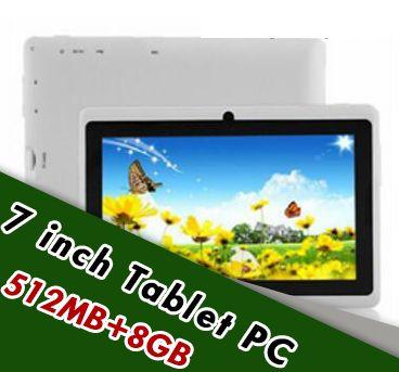10X7 inç Kapasitif Allwinner A33 Quad Core Android 4.4 çift kamera Tablet PC 8G