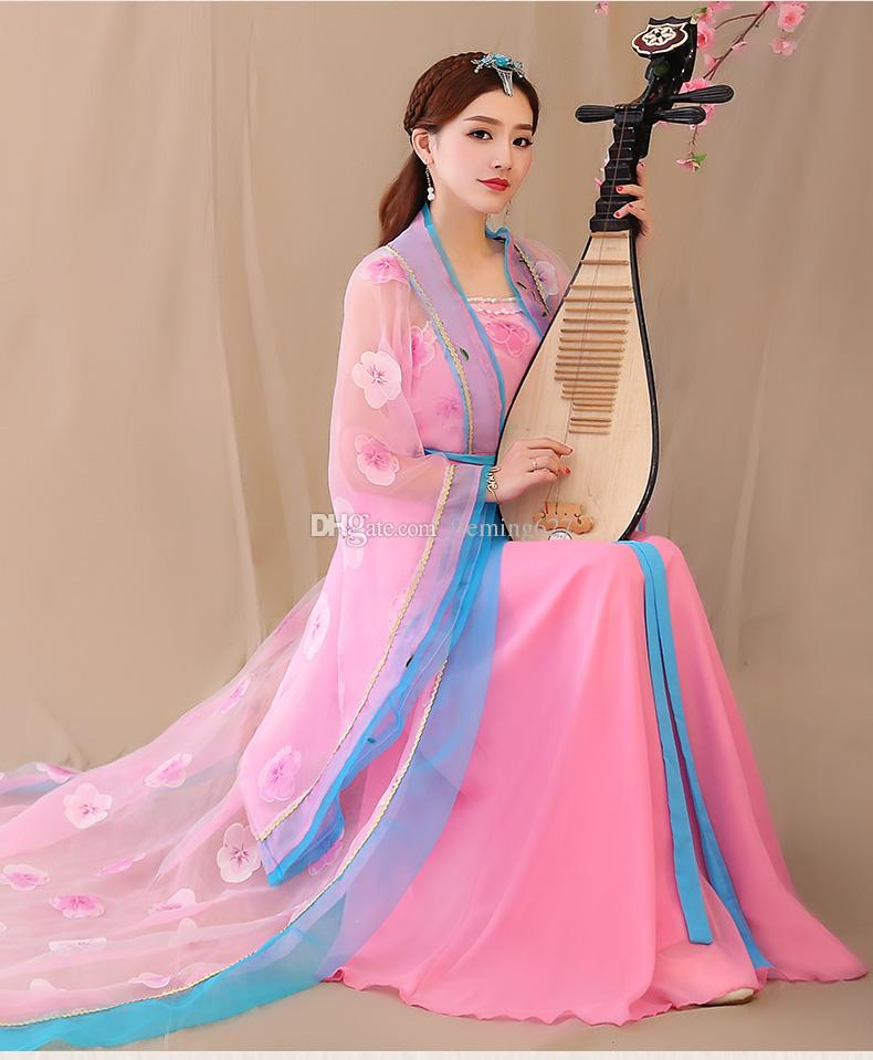 New Chinese Folk Dance ancient elegant princess clothes fairy carnival fancy clothing Chinese traditional hanfu women's stage wear