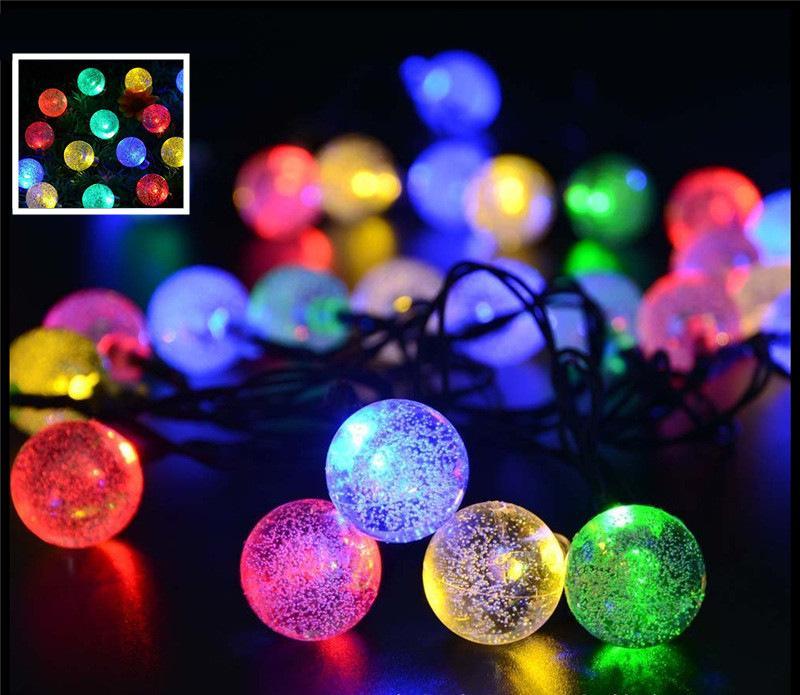 Lampe de paysage solaire 30led lumières bulle étanche décoratif lampe de paysage solaire Jardin de Noël