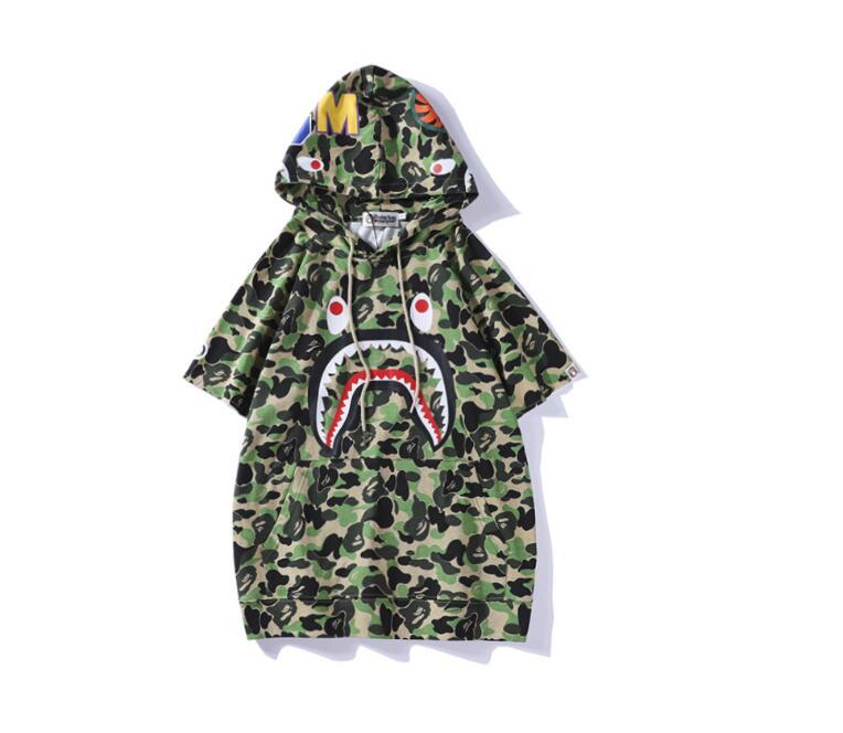 Ropa ocasional de la nueva llegada del camuflaje de las mujeres de los hombres T-Camisa marea hombres de la marca '; s redonda informal cuello personalizada floja Tees Si