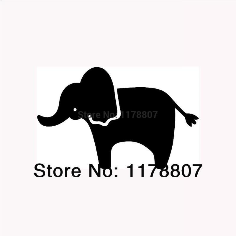 HotMeiNi Wholesale 20pcs/lot Cute Elephant Silhouette Sticker For Car Rear Windshield Truck SUV Bumper Auto Door Laptop Kayak Canoe