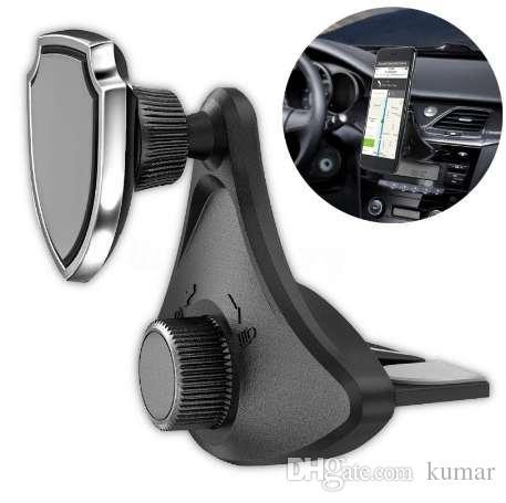 1 шт. 360 вращающийся автомобильный держатель стенд магнитный универсальный CD слот сотовый телефон