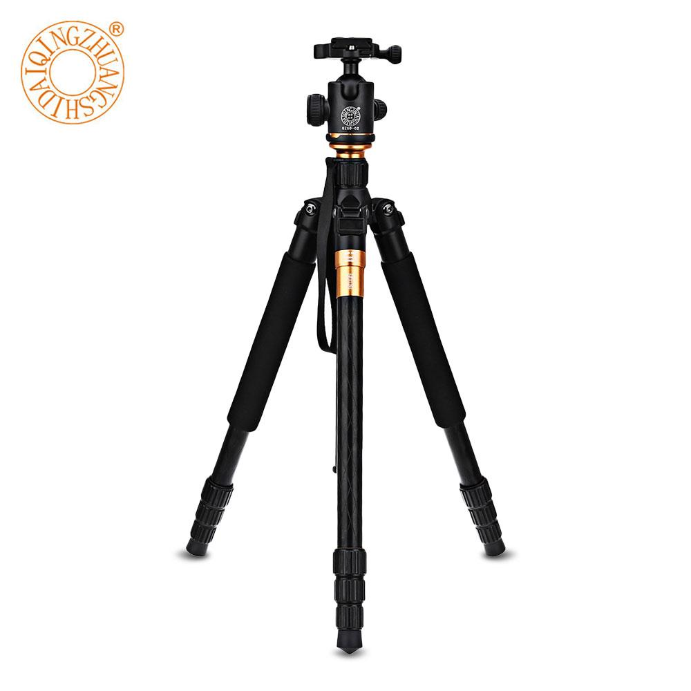 QZSD Q999 Professional Portable Tripod Monopod +Ball Head Camera Stand For Digital SLR DSLR Camera Fold Tripe