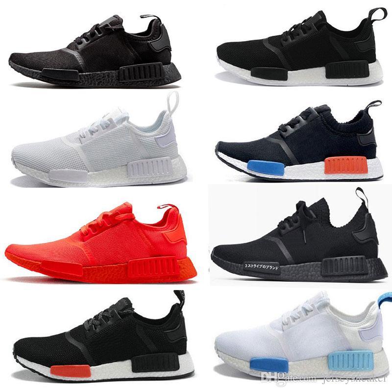 Erkekler Kadınlar Runner Sports İçin koşucu OG Primeknit Üçlü siyah Üçlü Beyaz Kırmızı Mavi Koşu ayakkabıları 36-45 sneaker
