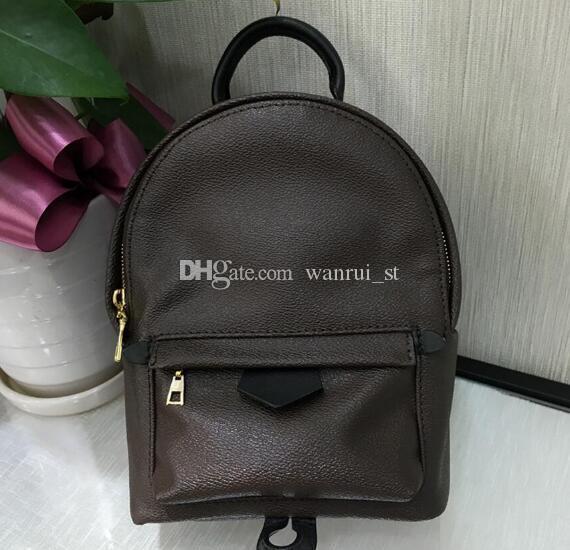 Kostenloser Versand!!! Hight Qualität Frauen Mini Rucksack aus echtem Leder Rucksäcke Frauen Druck Leder Mini Rucksack 12 41560