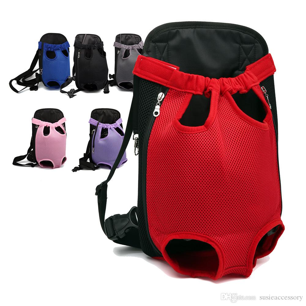 Mesh Cloth Dog Backpack Breathable Pet Cat Carrier Fashion Puppy Pets Travel Bag Easy Carrying Cats Double Shoulder Bags for Dog