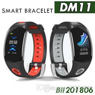 DM11 Smart Armband IP68 Wasserdichte Armband Pulsmesser Sport Smart Uhr Farbe 3D Dynamische UI LCD Bildschirm Für iOS Android 1 stücke