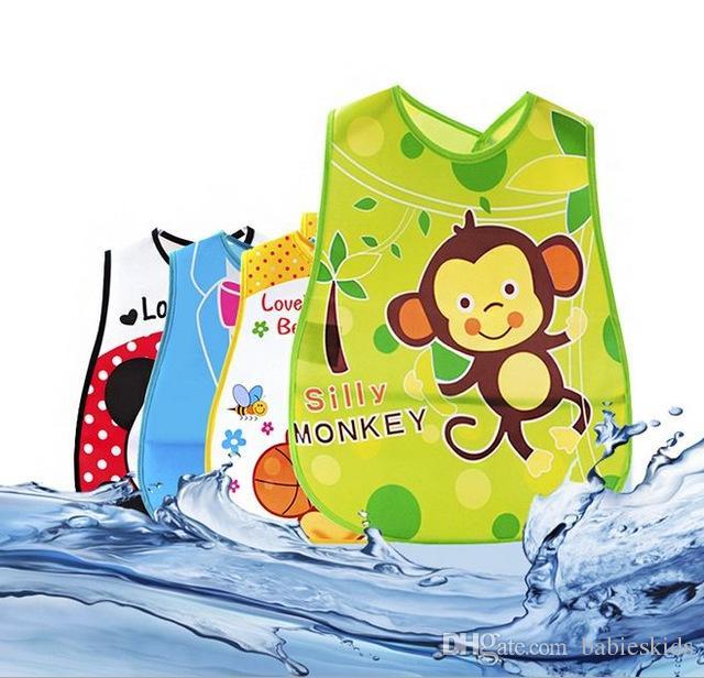 Bakımı Besleme Bibs Erkekler Kızlar Bebekler Burp Giyim Besleme Sevimli Karikatür Bebek Önlükler Su geçirmez Bandana Silikon Çocuk Bebek