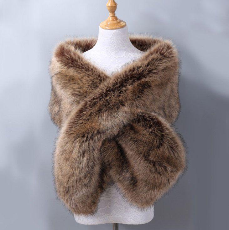 2018 한 사이즈 신부는 싸구려 모피 겨울 웨딩 코트를 재고 있음 고품질 재킷 어깨 걸이 숄 웨딩 액세서리