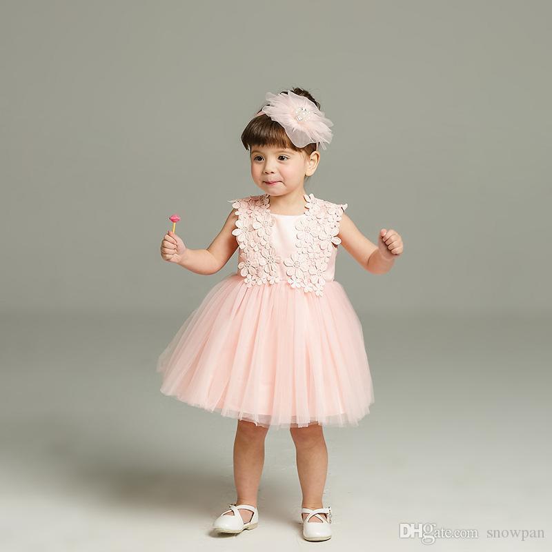 2129b700d39a9 ... Fête de naissance de bébé fille fête de pleine lune robe de mariée ...