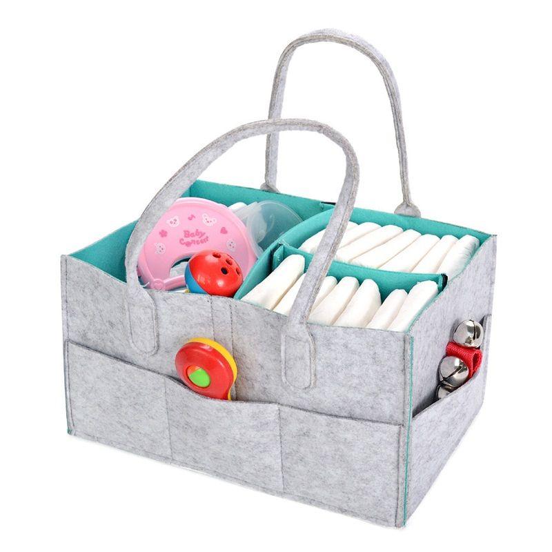 Multi Storey Felt Reticule Convenient Organizer Foldable Mommy Baby Diapers Storage Bag For Car Travel Hot Sale 22mz dd
