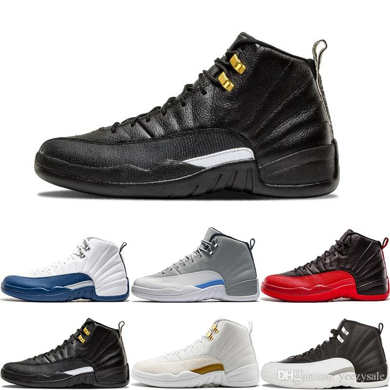 12 12S Basketball Shoes Bordeaux Dark Grey Wool White Flu Game Hyper Jade Gym Red Taxi Gamma French Blue Suede Sport Sneakers Size 7-13