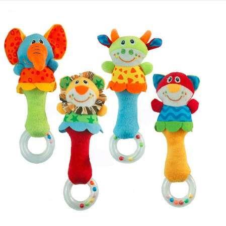 Lindo Animal de Peluche Campanas de Mano Bebé Juguetes Bebé Sonajero Anillo Campana Juguete Recién Nacido Infantil Educativos Tempranos Regalos de Muñeca brinquedos