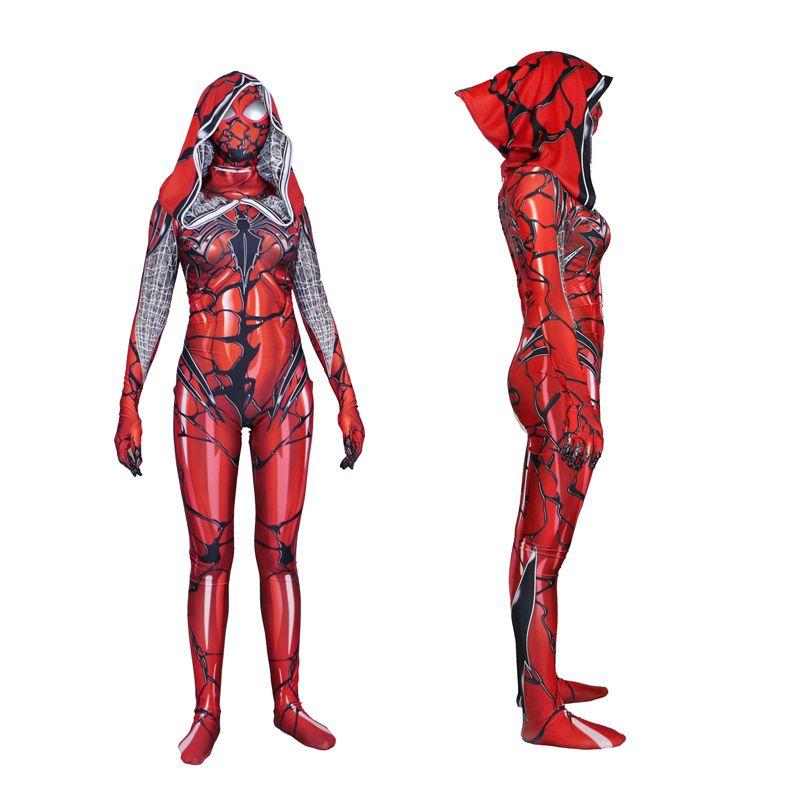 High Quality woman adult Halloween Spiderman Anime costume Spider-Gwen Lycra zentai SuperHero Theme Costume cosplay Full Body Suit