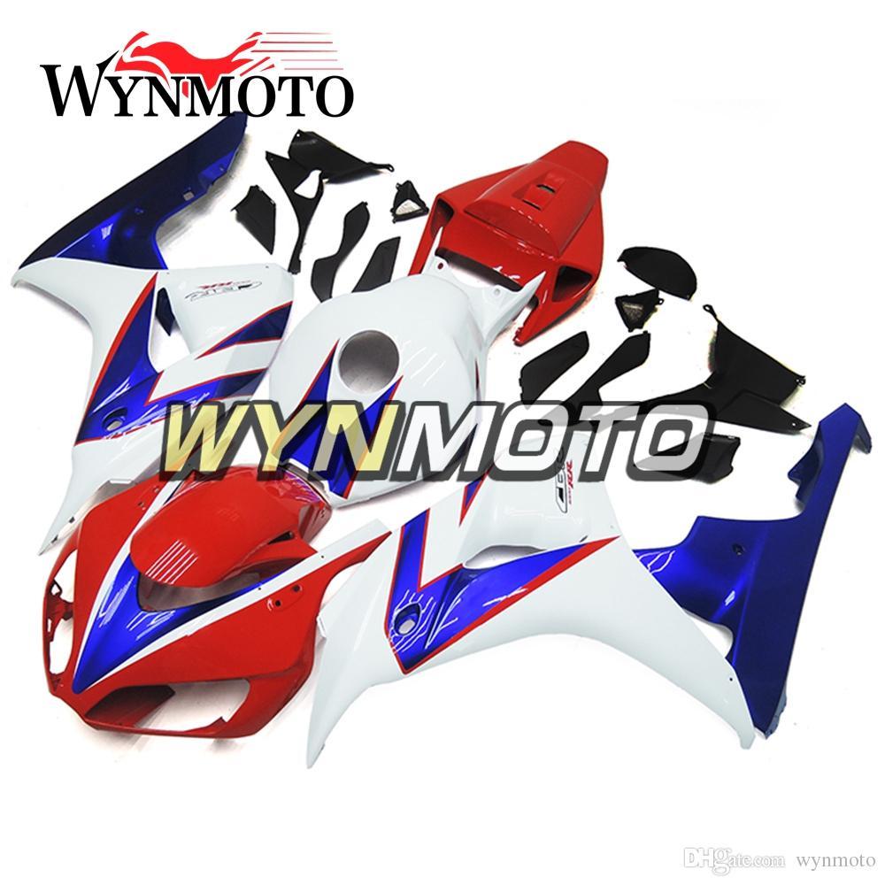 Voller Motorrad-Einspritzungs-Ausstattungs-Installationssatz für Honda CBR1000RR 2006 2007 CBR 1000RR 06 07 ABS Plastikkörper-Ausrüstungs-rote weiße blaue freie Geschenke Cowling